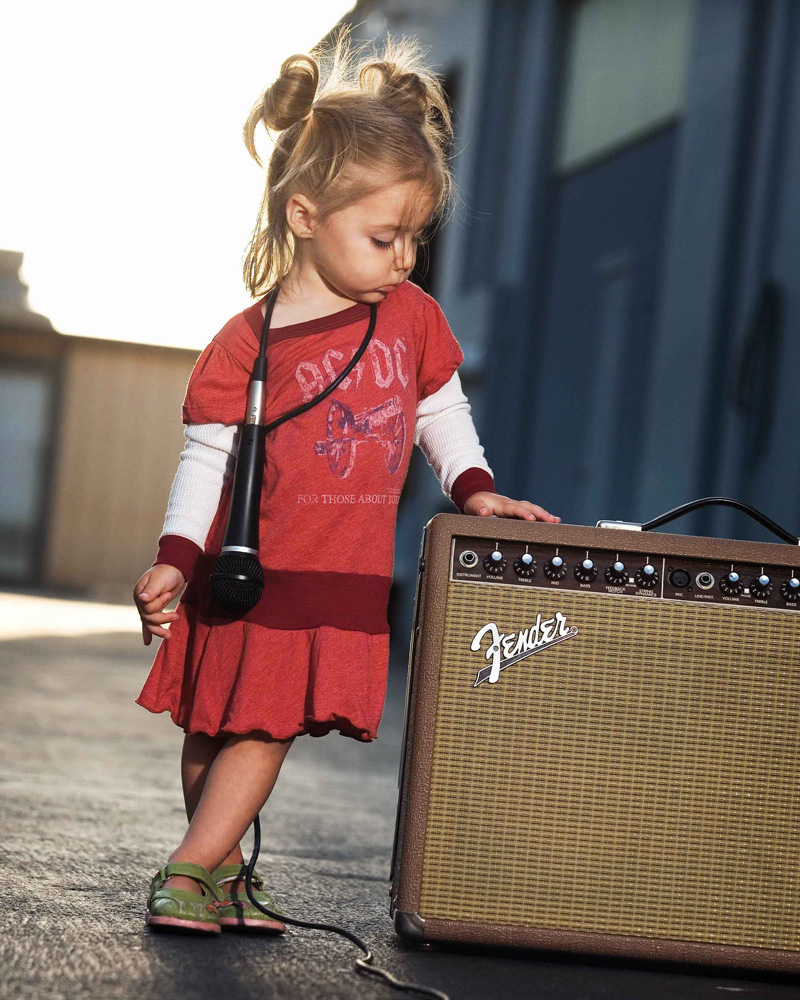 Girl with Fender amp