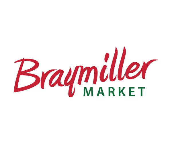Braymiller Market logo seller of locally grown foods.