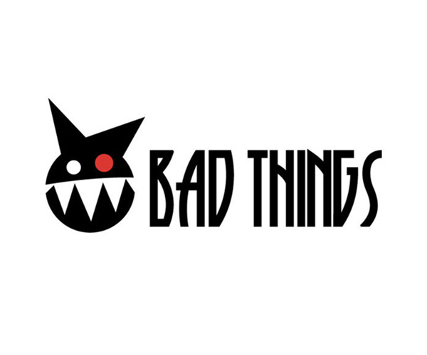 Bad Things logo for artist Paul Kostabi's commercial products.