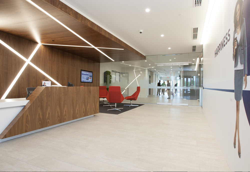 The Sodexo front lobby welcomes visitors and employees alike.