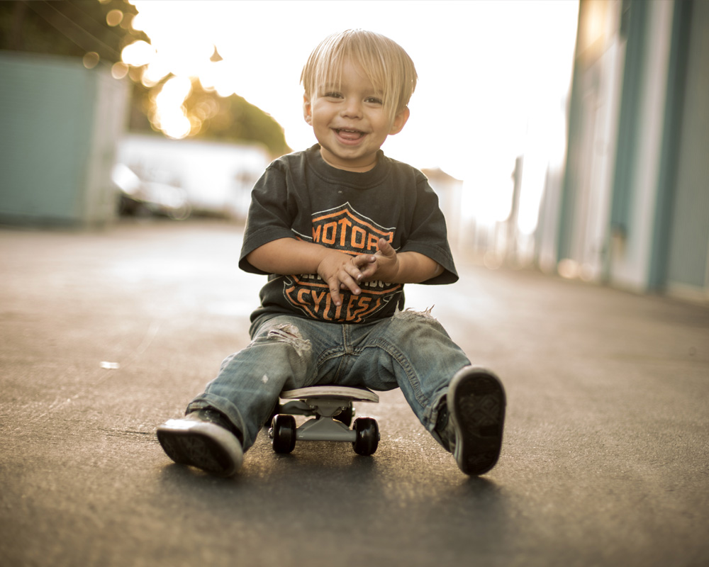 Young Child on Skateboard