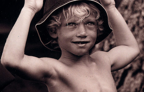 Young surfer boy