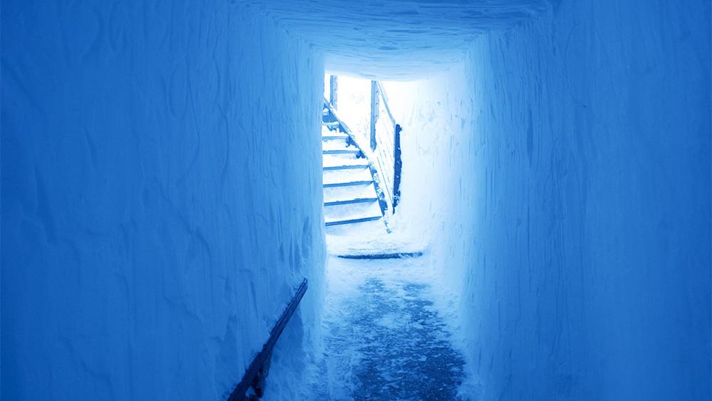 Aiguille du midi icetunnel